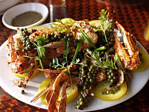 Crabe frais du marche cuisine