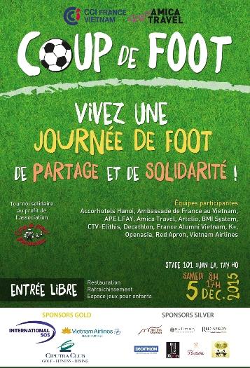 Coup de foot 2015 premier tournoi solidaire de la for Chambre de commerce francaise au vietnam