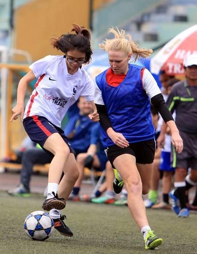 Match entre les équipes féminines